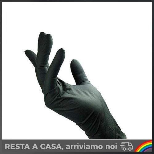 Guanti Monouso in Nitrile Black Tg. M - 100pz