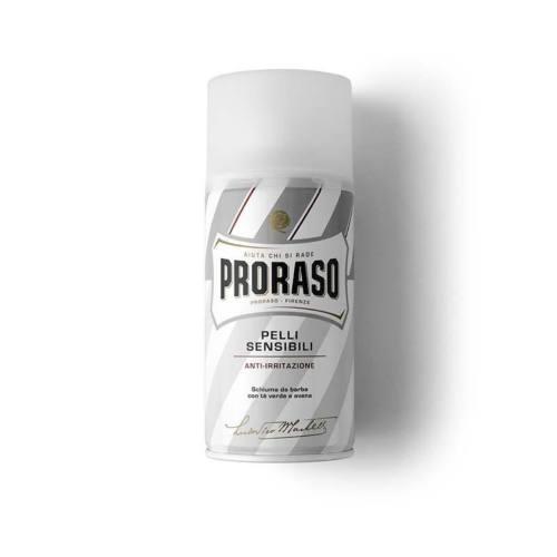 Proraso-schiuma-da-barba-anti-irritazione-linea-bianca-300ml-youbarber-rasatura