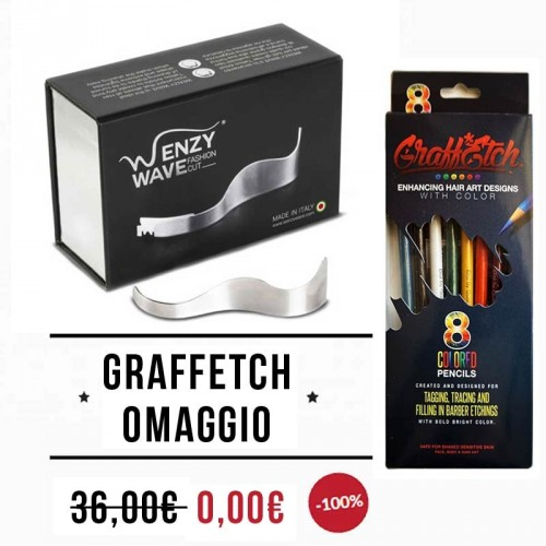 Wenzy Wave - Razor for Hair Tattoo + GraffEtch OMAGGIO