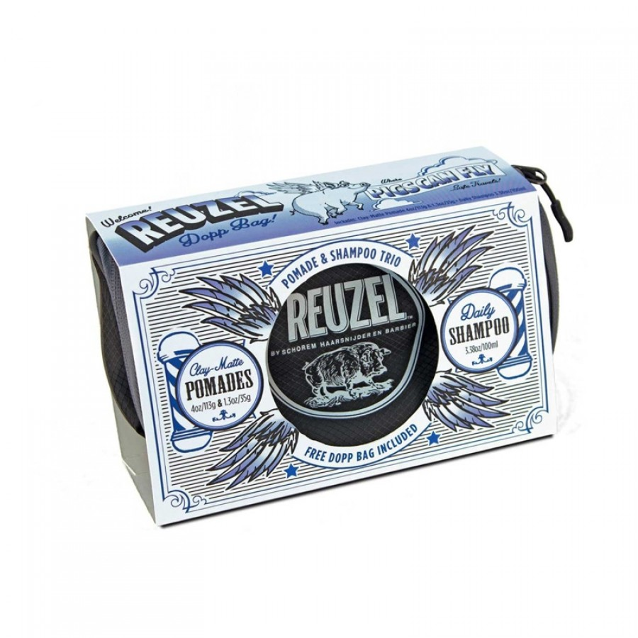 Reuzel - Set Pigs Clay Dopp Bag