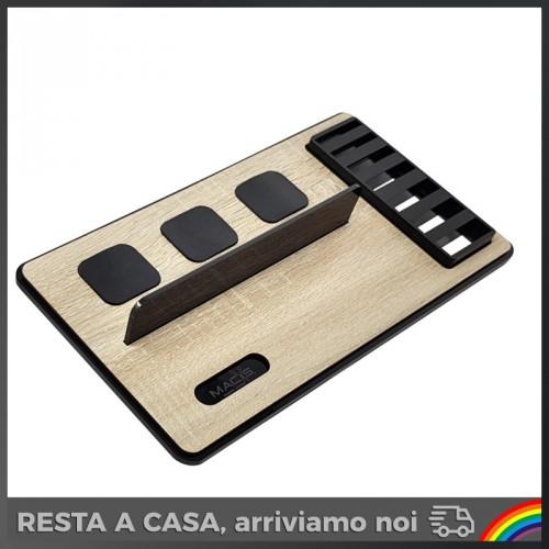 Macs - Barber Rovere/Nero per 3 Tagliacapelli con Porta Rialzi