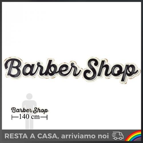 Insegna Barber Shop in Metallo 140cm