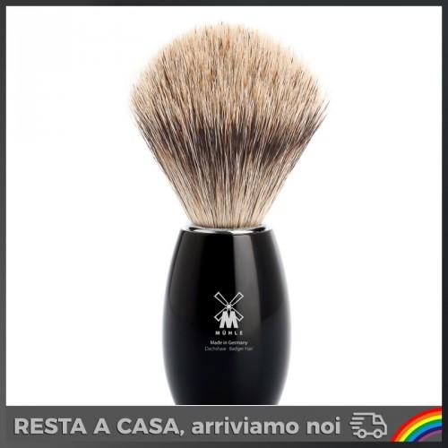 Muhle - Pennello da Barba in Tasso Manico Nero