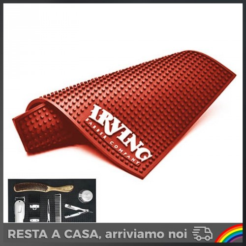 irving-barber-tappetino-red-rosso-tagliacapelli