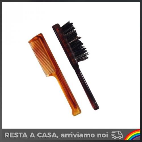 Set Pettinino + Spazzola per Barba e Baffi