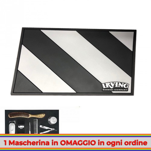 irving-tappetino-barber-mat-black-silver