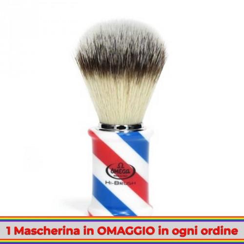 Omega - Pennello da Barba Barber Pole HI-BRUSH 46735