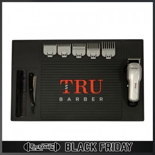 TruBarber - Tappetino Barber Mat Organizer Black