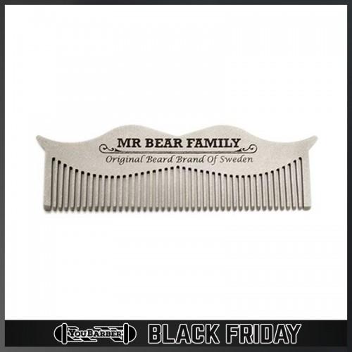 Mr Bear Family - Pettine Baffi Acciaio INOX