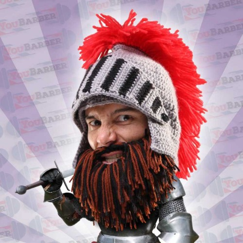 Beard Head - Barbarian Knight - Elmo con barba e visiera