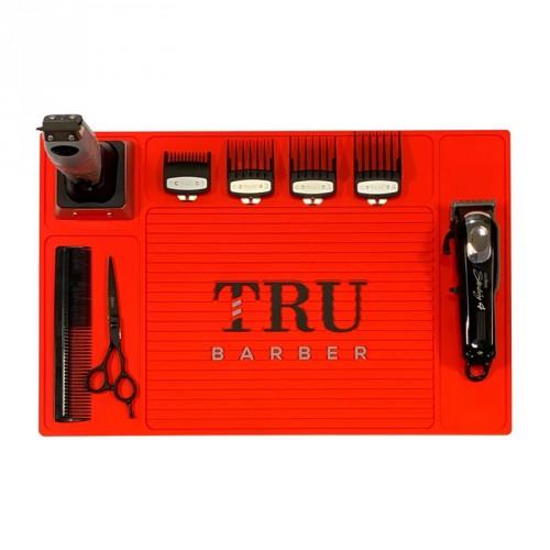 TruBarber - Tappetino Barber Mat Organizer Red