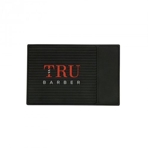 TruBarber - Tappetino Barber Mat Organizer Black/Red SMALL