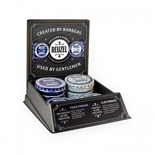 Reuzel - Pigpen Tray Display Hybrid + 3 x Fiber + 3 x Clay