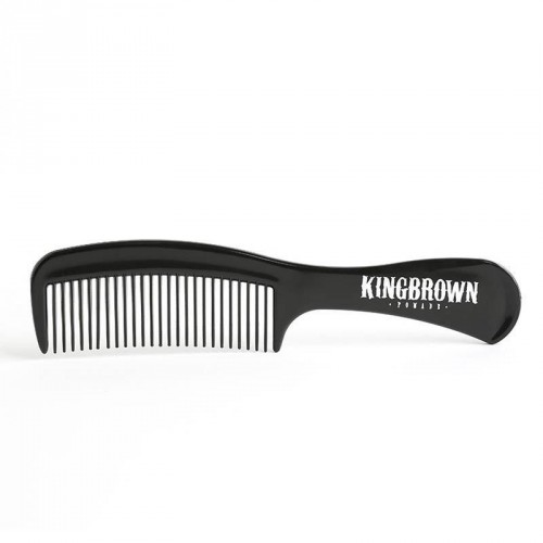 king-brown-BLACK-HANDLE-COMB-pettine-capelli