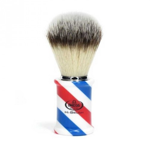 Omega - Pennello da Barba Barber Pole HI-BRUSH 46735